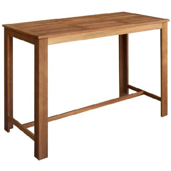 Vidaxl tavolo bar 150x70x105 cm legno massello di acacia