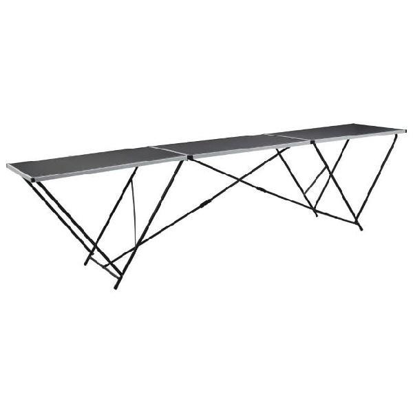 Vidaxl tavolo pieghevole per carta da parati mdf alluminio