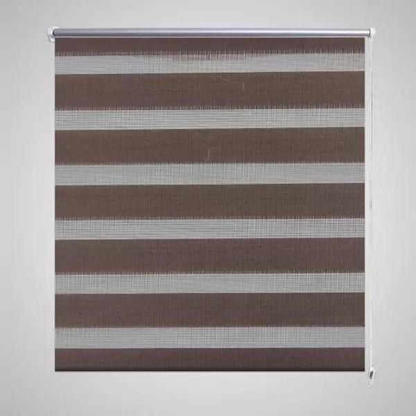 Vidaxl tenda oscurante a zebra 100 x 175 cm caffè