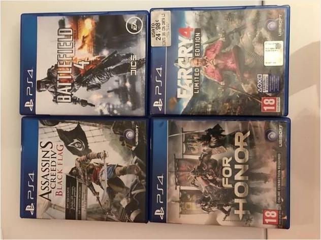 4 videogiochi per playstation 4 usato