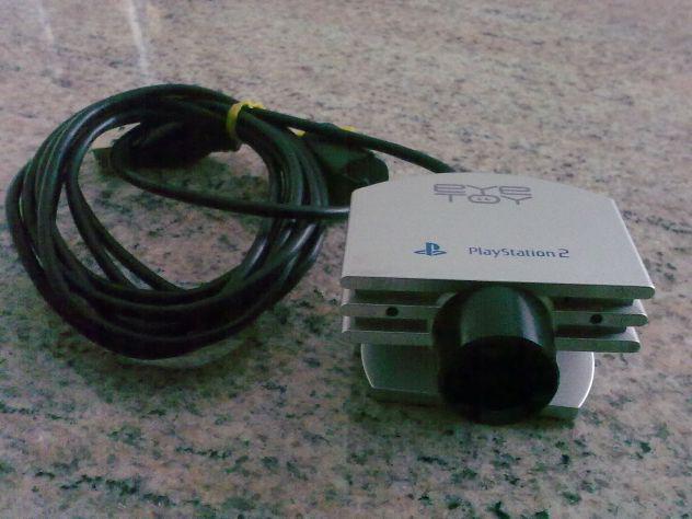 Telecamera sony ps2 eye toy con gioco play sports