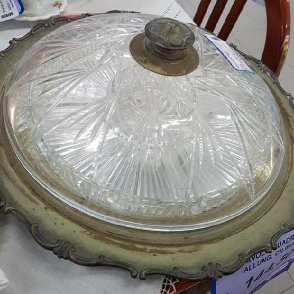 Antipastiera cristallo piatto silver