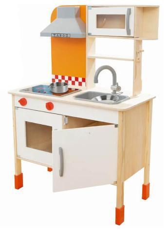 Cucina giocatto per bambini in legno 70x100x36 cm kids joy