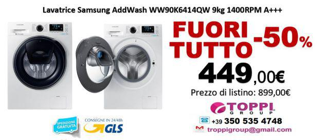 Lavatrice Samsung AddWash WW90K6414QW 9Kg 1400RP