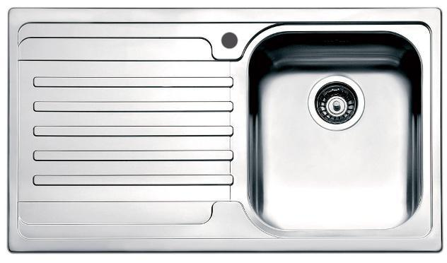 Lavello cucina 1 vasca 86x50 cm in acciaio inox apell