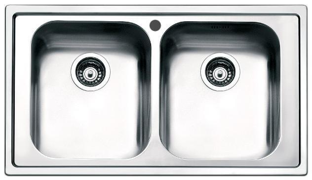 Lavello Cucina 2 Vasche 86x50 Cm In Acciaio Inox Apell