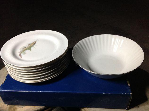 Servizio da pesce da 8 ceramica originale bavaria