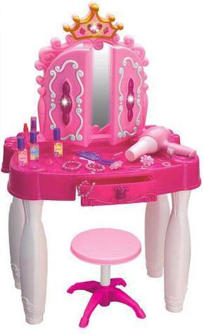 Specchiera giocattolo per bambini rosa e bianco kids joy