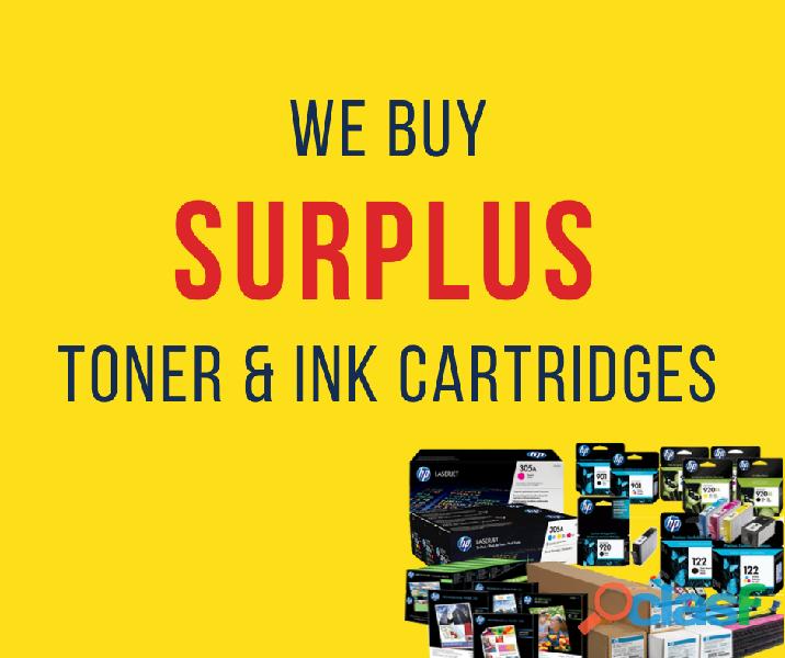 We buy surplus toner & ink cartridges