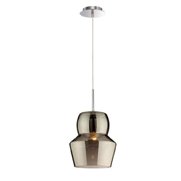 Lampada a sospensione 60w e27 ideal lux grigio