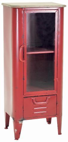 Mobile vetrina 1 anta 1 cassetto in metallo adami edimburgo