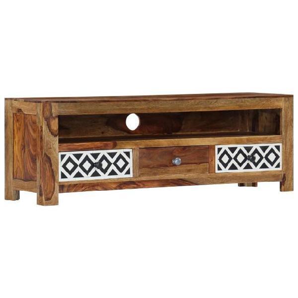 Vidaxl mobile porta tv 120x30x40 cm in legno massello di