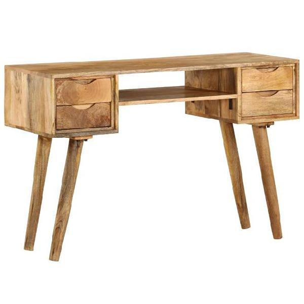 Vidaxl scrivania in legno massello di mango 115x47x76 cm