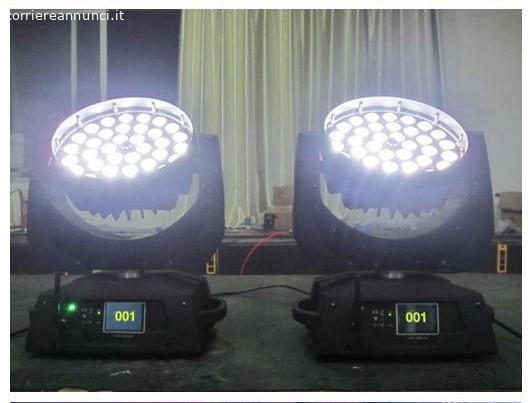 Teste mobili wash/zoom led 36x18w rgbwa + uv