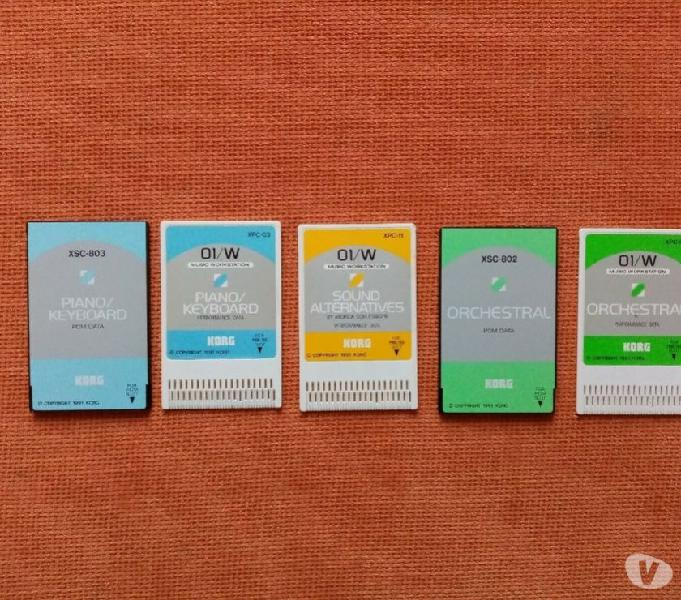 Card x korg 01w x 03rw x korg m1 x korg vavestation d50