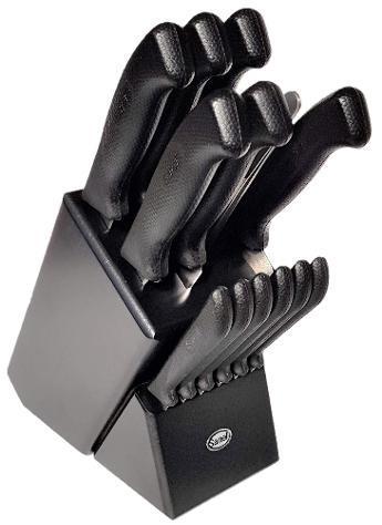 Ceppo master black con 13 coltelli manico antiscivolo