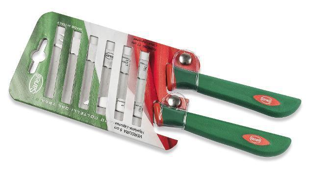 Set coltelli 2 pezzi per verdura e agrumi manico antiscivolo
