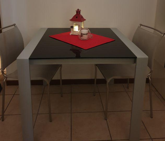 Tavolo Cristallo Allungabile Usato.Tavolo Vetro Allungabile Sedie Offertes Febbraio Clasf