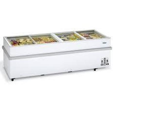 Congelatore a pozzetto con vetri scorrevoli nuovo