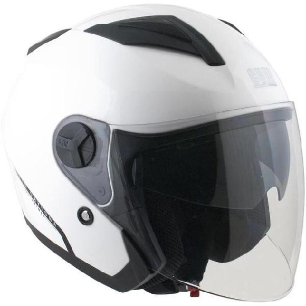 Casco jet per scooter visiera lunga cgm daytona 130a bianco