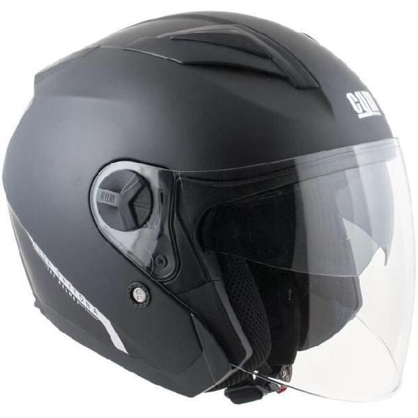 Casco jet per scooter visiera lunga cgm daytona 130a nero