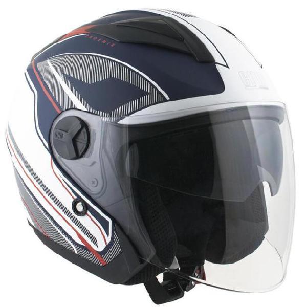 Casco jet per scooter visiera lunga cgm phoenix 130g blu