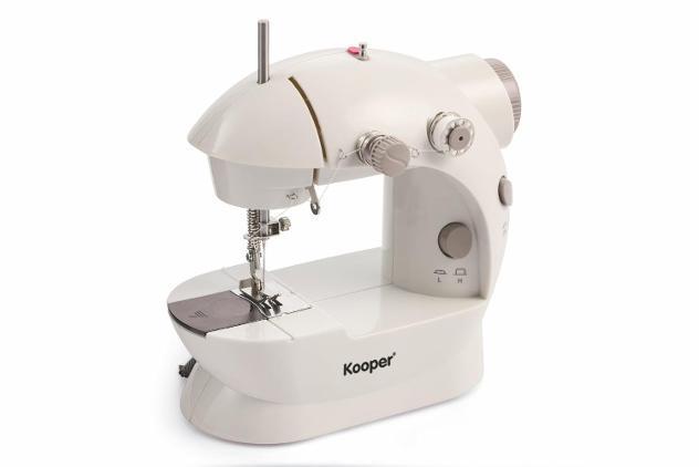 Mini macchina per cucire portatile 5w kooper zig zag bianca