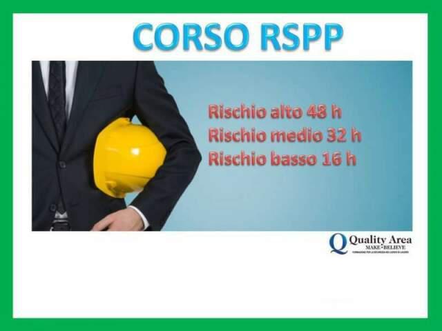 Corso di formazione rspp (sicurezza nei luoghi di lavoro)