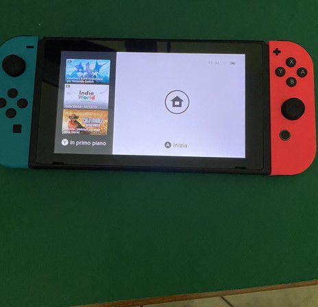 Nintendo switch con 3 giochi