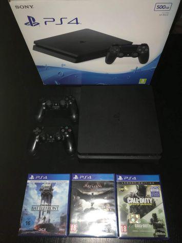 Playstation 4 ps4 slim 500gb 2 joystick 4 giochi