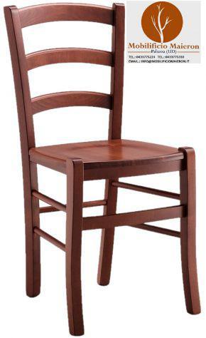 Sedia legno massello noce 【 ANNUNCI Agosto 】 | Clasf