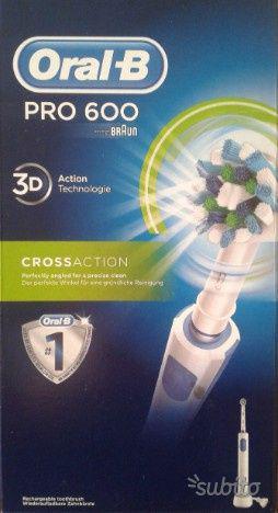 Spazzolino elettrico oral b pro 600 3d crossaction, braun