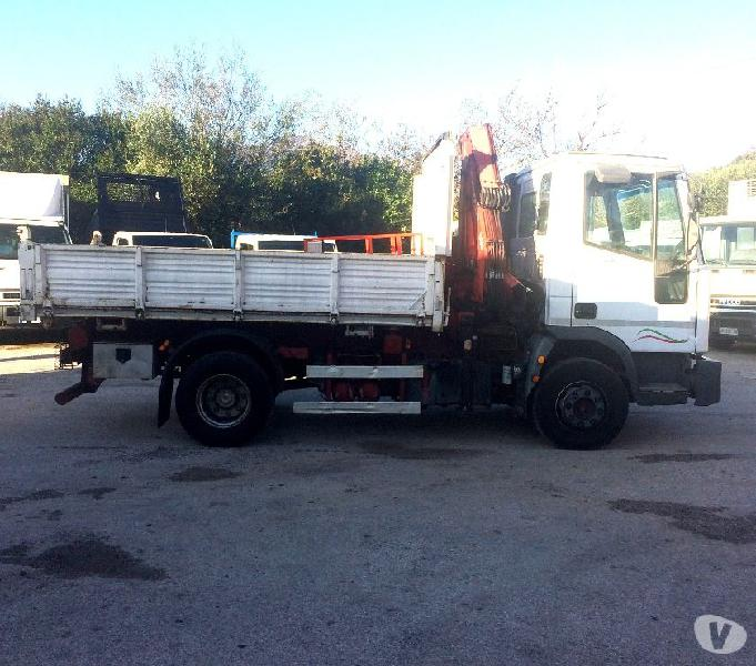 Camion iveco eurocargo 100e21 k tector ribaltabile e gru