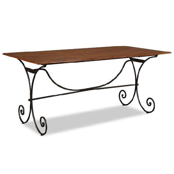Vidaxl tavolo in legno massello con finitura in sheesham