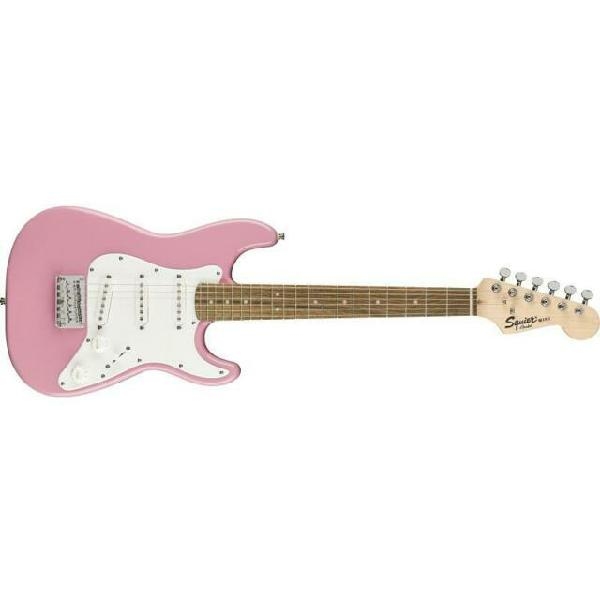 Fender stratocaster squier mini rw pink 34 set up incluso