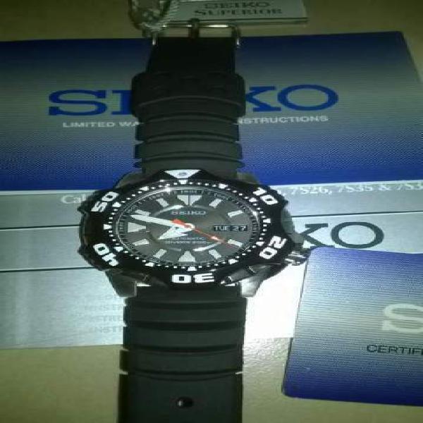 Seiko superior skz283-k2 shuriken/starfish raro perfetto