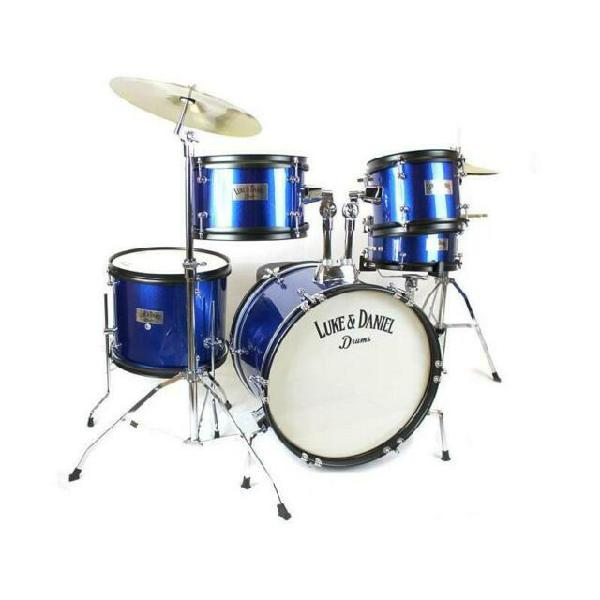 Set batteria 5 pezzi per bambini d950j5 blue con piatti e
