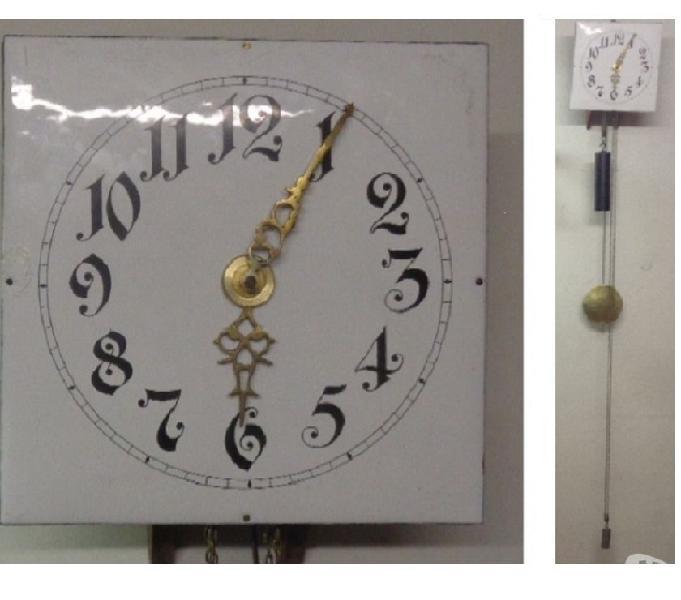 Lanterna antico orologio olandese del 800 funziona