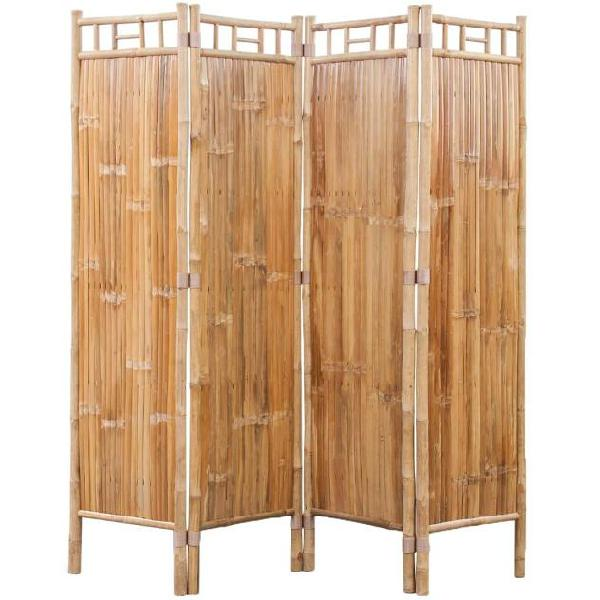 Vidaxl paravento a 4 pannelli in bambù