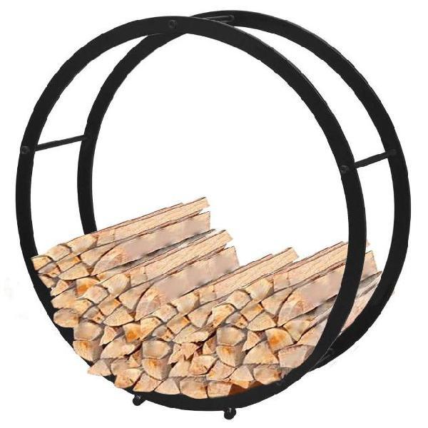 Vidaxl supporto porta legna da ardere rotondo