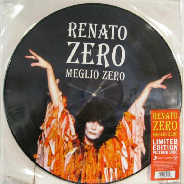 """Lp renato zero """"– meglio zero picture disc"""