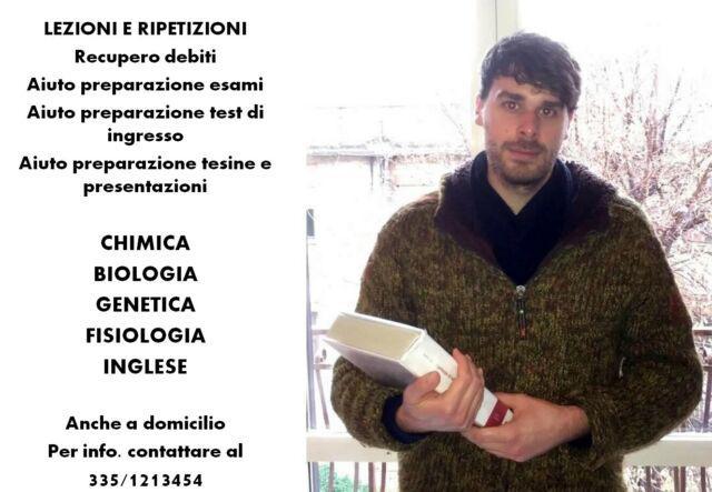 Ripetizioni di chimica biologia genetica fisiologia inglese