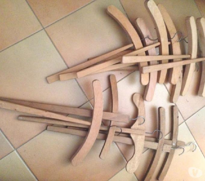 Antica gruccia stampella legno manico lungo