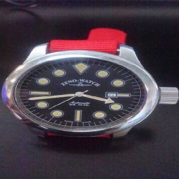 Orologio acciaio uomo zeno-watch basel ref. 1554, usato, top