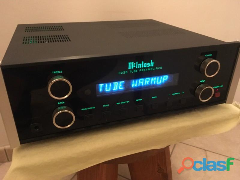 Pre amplificatore mcintosh c 220 tubo 220v