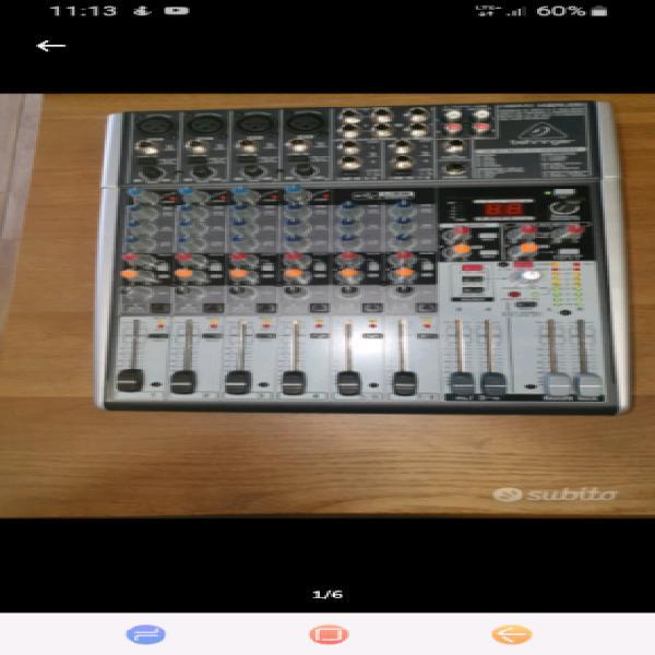 Mixer behringer xenyx x1204 usb
