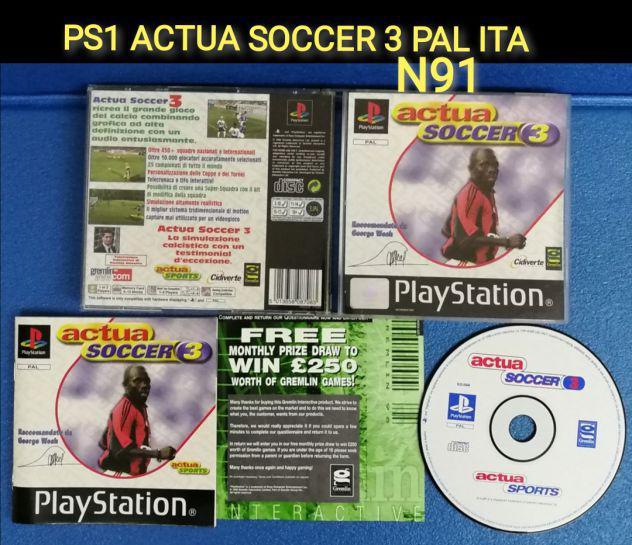 Ps1 actua soccer 3 pal ita