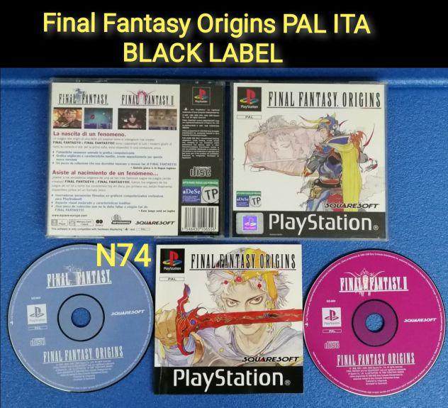 Ps1 final fantasy origins pal ita black label raro