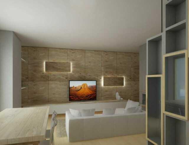 Appartamento duplex 120mq, 2 camere, studio, 2 bagni