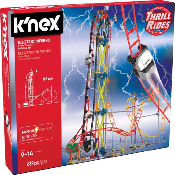 K'nex thrill rides electric inferno roller coaster